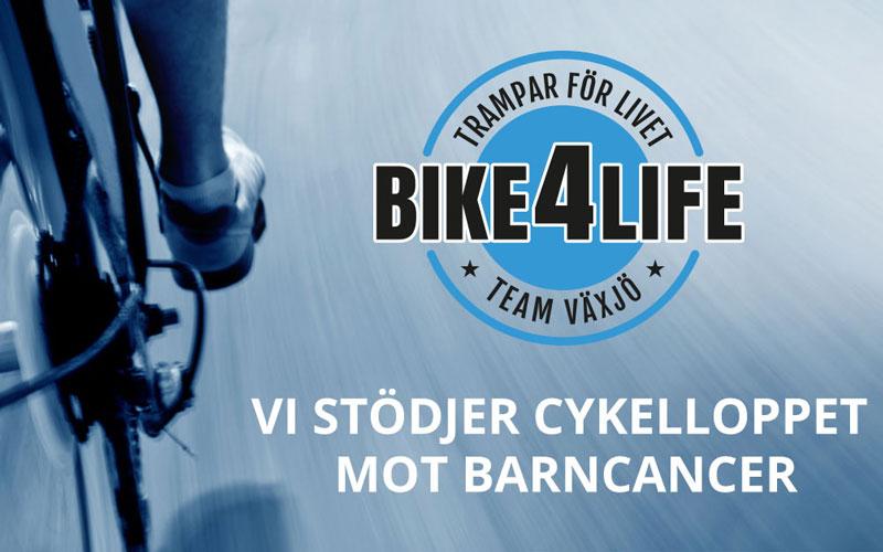Vi stödjer Bike4Life